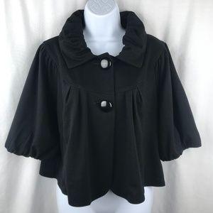 Elle Black Crop Jacket Size L